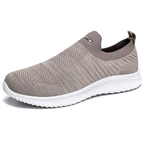 Xinghuanhua Herren Sportschuhe ultraleichte Mesh Damen Slip On Sneakers atmungsaktive Freizeitschuhe Fitnessschuhe Decken Füße Socken Schuhe 35-46EU