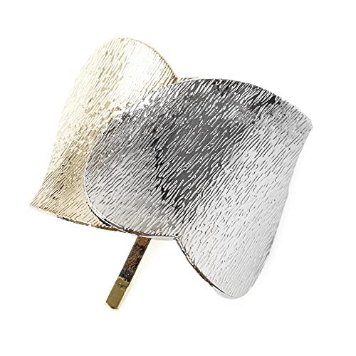 [ジュエルボックス] JewelVOX ポニーフック ヘアアクセサリー レディース 人気 バイカラー ハート (シルバー)