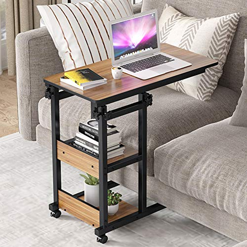 Tribesigns Height Adjustable C Table, C Shaped Couch Table...