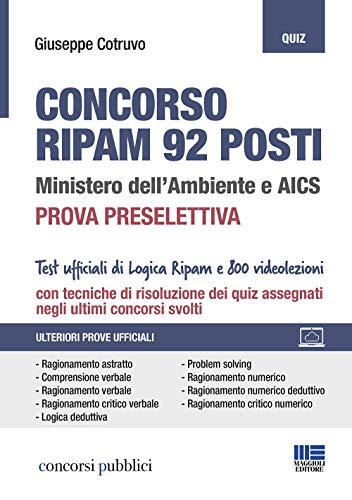 Concorso RIPAM 92 posti. Ministero dell'Ambiente e AICS. Prova preselettiva. Con espansione online