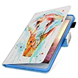 MoreChioce kompatibel mit Kindle Paperwhite HD8 Hülle, Dünn Aquarell Elefant Muster Ledertasche Schutzhülle Smart Cover Stand Flip Tablet Case kompatibel mit Kindle Paperwhite HD8 2016/2017,EINWEG