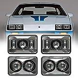 BESURE 4x6 Led Headlights Hi/Lo Beam H4656 H4651 H4652 H4666 H6545 Rectangular Headlight Replacement for Freightliner Peterbilt Kenworth Oldsmobile Cutlass Trucks - 4pcs