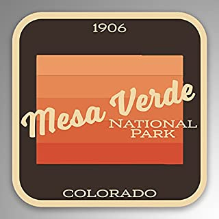 JMM Industries Mesa Verde National Park Vinyl Decal Sticker Car Window Bumper 2-Pack 4-Inches by 4-Inches Premium Quality ...