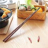 Palillos 42 cm madera de tamaño largo frito profundo estilo chino fideos palillos alimentos palillos alargar olla caliente cocina de madera herramientas JoinBuy.R palillos reutilizables TNSYGSB