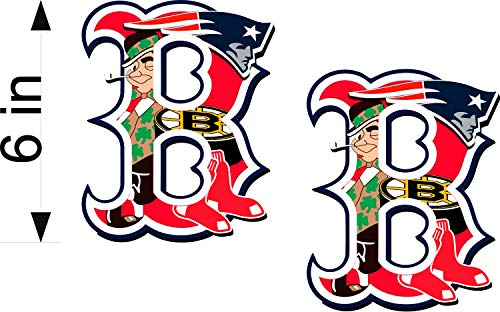 Bermuda Shorts Graphics Boston Sports Fan/B Logo / 6' Pair/Decals/Patriots/RED SOX/Bruins