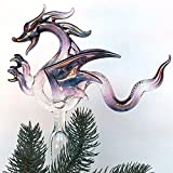 Dragon Christmas Tree Topper Ornament of Hand Blown Glass