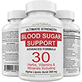 Blood Sugar Support Supplement - 30 Herbs, Vitamin & Minerals Formula for Diabetic Blood Sugar Control & Extra Energy with 300 mg Alpha Lipoic & Cinnamon Support Diabetes Nutrition for Men & Women