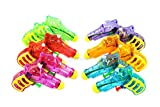 Assortmart 12 Squirt Guns For Kids - Transparent Neon Bulk Water Guns With Classic Design And Durable Materials