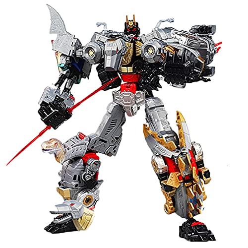 LNNC Transformer Toys, Dinoking Volcanicus Robot Grimlock Slag Sludge Snarl Swoop Action Figure 5in1 Robot Toys