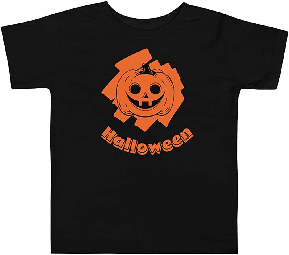 Happy Halloween T Shirt Children Kids Boys & Girls Pumpkin Fall Tee Shirts Toddler Short Sleeve Tee Black
