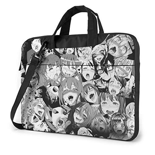 15.6 inch Laptop Shoulder Briefcase Messenger Anime Face Tablet Bussiness Carrying Handbag Case Sleeve