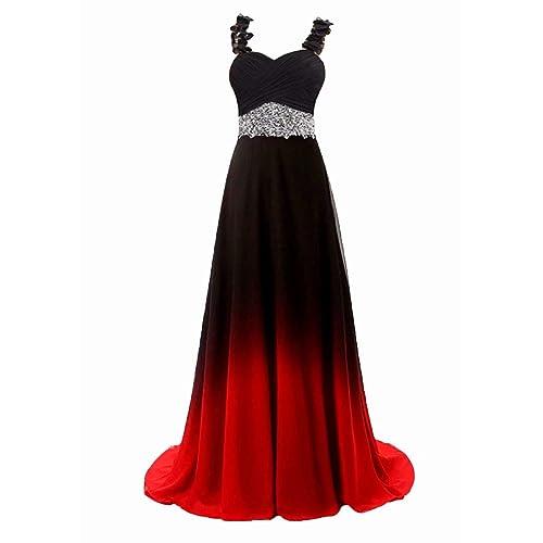Red And Black Wedding Dress Amazon Com