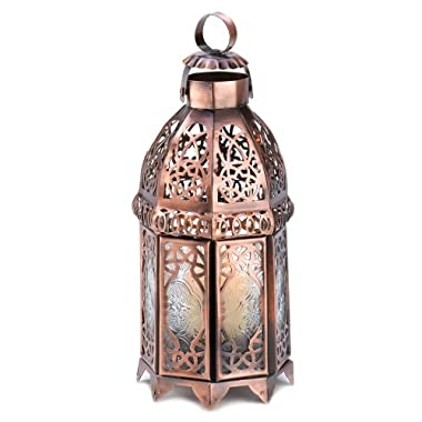 Gifts & Decor COPPER MOROCCAN CANDLE LAMP