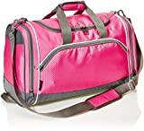 Amazon Basics Medium Lightweight Durable Sports Duffel Gym and Overnight Travel Bag - Pink