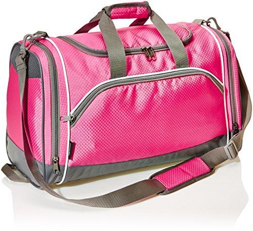 Amazon Basics - Sporttasche, Größe M, Pink