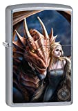 Zippo Lighter: Anne Stokes Woman with Dragon - Street Chrome 80889