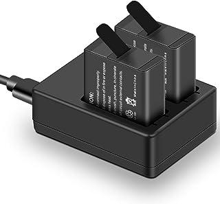 Soxono GoPro 用バッテリー+ゴープロ充電器 最新型 急速充電 Micro USB/Type-Cインターフェイス 2個同時充電可能 収納ボックス付きHERO 7 / HERO 6 / HERO 5 / GoPro HERO (2018) 対応 (充電器+2個予備バッテリー)