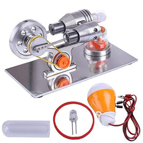 DAN DISCOUNTS Stirlingmotor - Kit de construcción de motor Stirling Engine, motor Stirling, juguete educativo para adultos y niños