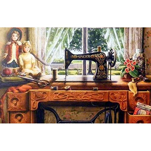 Jigsaw Puzzles Adults 1000 Pieces,Sewing Machine Puzzles -Educational Toy Gifts Best Choice for Adults and 8 Years Age Up Kids