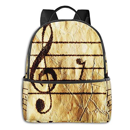 Rucksack Freizeit Damen Herren, Klavier Notenblatt Gitarre Campus Kinderrucksack, Daypack Schulrucksack Sportrucksack Tablet Tasche 15,6 Zoll