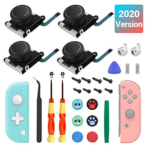 G/N Ersatz für Joystick, 4 x Joysticks für Switch/Switch Lite, Ersatz-Controller, Daumengriffkappe