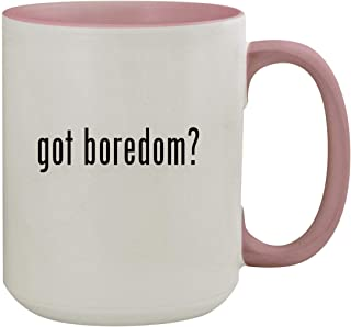 got boredom? - 15oz Colored Inner & Handle Ceramic Coffee Mug, Pink