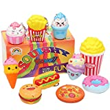 AOLIGE Sensory Play Food Toys Mini Food Squishies Kawaii Slow Rising Squishy Toy for Girls or Boys Pack of 10
