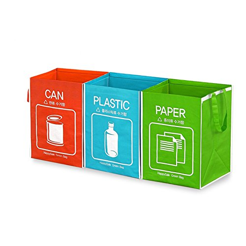 Happy Sale Recycle Bag Separate Recycle Bin Waterproof Waste Baskets Compartment Container