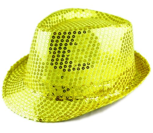 Trendit Paillettes Chapeau de Chapeau de fête Ben Chapeau Paillettes Or Doré Chapeau Fashing Party Star Big Gold O1