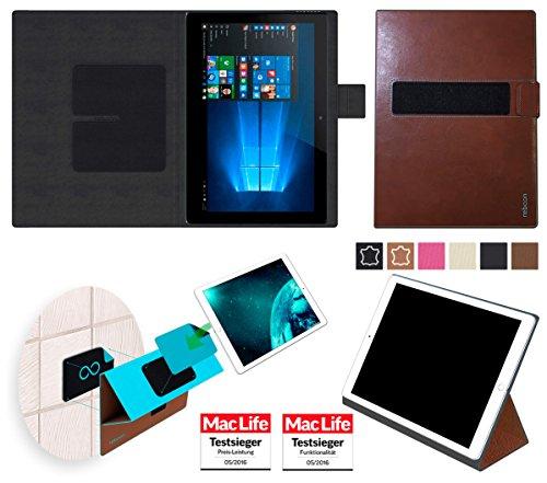 reboon Hülle für Allview WI10N Tasche Cover Case Bumper | in Braun Leder | Testsieger