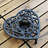JONJUMP Estilo europeo de hierro fundido estufa de alcohol parrilla candelabro lámpara hotel decoración del hogar adornos candelabros decoración del hogar