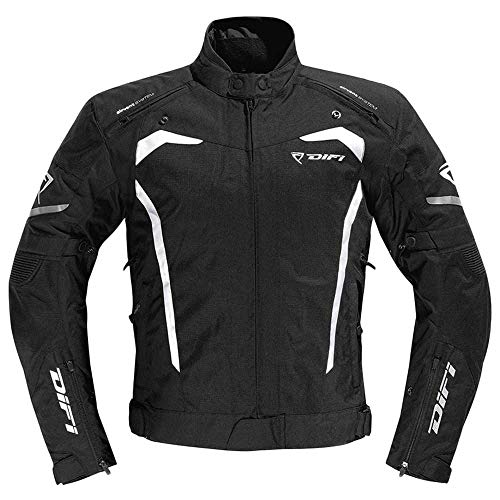 Difi CATALUNYA AEROTEX® Motorradjacke Farbe schwarz/weiß, Größe XL