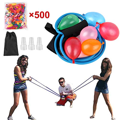Water Balloon Launcher 500 Water Balloons Slingshot Toys Catapult Balloon Outdoor Party Water Game for Kids & Adults with Carry Bag