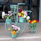 Planta de metal Soporte de flores Rack de bicicletas Plantador de exhibición Maceta Macetero Diseño de paso Estantería, 6 Macetas Independiente Decoración for el hogar Estantes for el hogar, Jardín