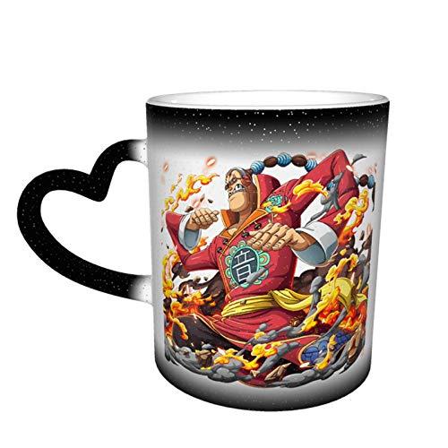 Vdaras Tazas Tazas de Bebida Scratchmen Apoo Aka Roar O-N-E-Piece Tazas Mágicas de Café Sensible al Calor