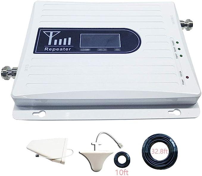 HXY Amplificador de señal de teléfono Celular Repetidor Celular 4G, 900/2100 / 2600Mhz Multibanda Mobile, Amplificador de señal de teléfono Celular ...