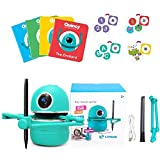 HGYYIO OID Technology Drawing Robot, International Standard Educational Robot, Including 4 Books 104 Cards and 2 Pens, Robot Toy for Children Over 3 Years Old
