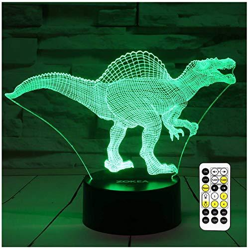 Lámpara de noche 3D, 7 colores cambiantes, luz nocturna LED con Smart Touch y mando a distancia, luces de noche 3D para niños o como regalo para mujeres, niños y niñas