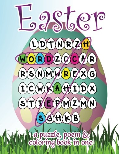 Easter Word Search: A Puzzle, Poem & Coloring Book in One