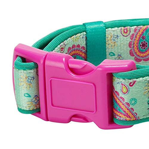 Blueberry Pet 1,5cm S Paisley-Druck Inspiriertes Ultimatives Hell-Smaragdgrün Neopren-Gepolsterte Hundehalsband, Kleine Halsb?nder für Hunde - 3
