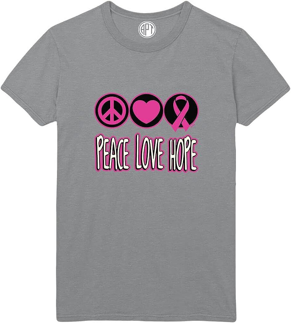 Peace Love Hope Cancer Awareness Printed T-Shirt