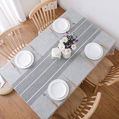 marca blanca Home Slate Mantel de vinilo, 90 x 140 cm, diseño de lunares, color gris