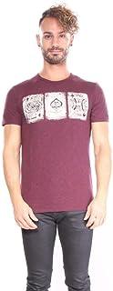 Lucky Brand Mens 7M80571LBK Poker Cards Tee Short Sleeve T-Shirt