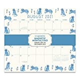 Orange Circle Studio 2021-2022 Magnetic Monthly Calendar Pad - 17-Month Planner with Magnetic Tab - for Fridge, File Cabinet, or Desktop - This & That