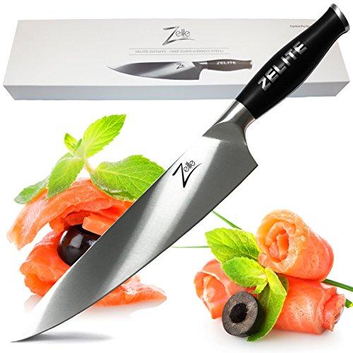 Zelite Infinity Chef Knife 10 Inch - Comfort-Pro Series - German High Carbon Stainless Steel - Razor Sharp, Super Comfortable