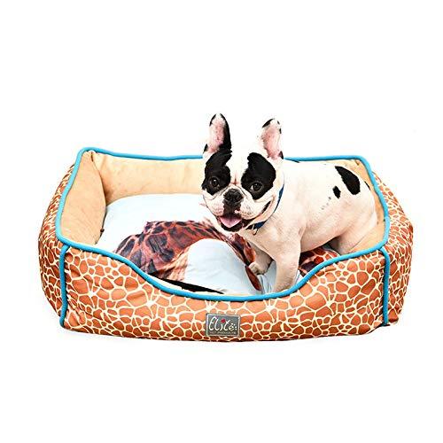 YUIOP Hundehütte Vollständig Abnehmbare Hundehütte-Haustiermatte Orange Oxford-Stoffhundehütte-Hundematte