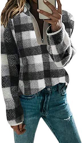 Alessioy Moda para Mujer Sudadera Polar De Gran De Suéter Tamaño Manga Vida de la Moda Larga Ropa Exterior De La Capa De La Capa 7 Colores S XXL Manera De Las Tapas Acogedor Básico Tops Ropa