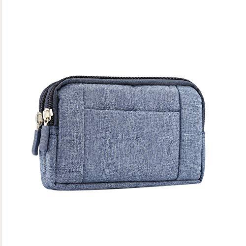 GUOQING Bolsa de mensajero para el cinturón del teléfono con clips de cintura para iPhone 11 Pro Max/Xs Max/XR/7/8 Plus bolsa de mano para deportes al aire libre (color: azul, tamaño: S)