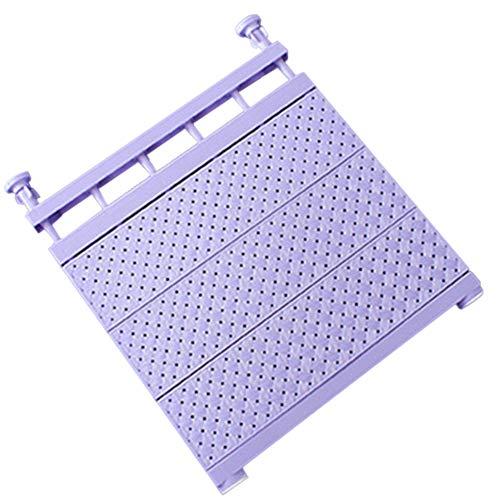 Zoloyo Armario ajustable, estante de almacenamiento montado en la pared, estante extensible ahorro de espacio (púrpura, 29-46 cm)