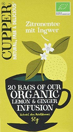 Cupper Zitronentee mit Ingwer, 4er Pack (4 x 50 g)